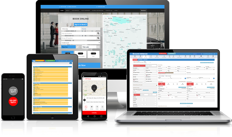 display Limoalliance Software WebPortal Features