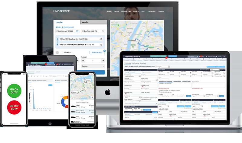 LimoAlliance WebPortal Screenshot