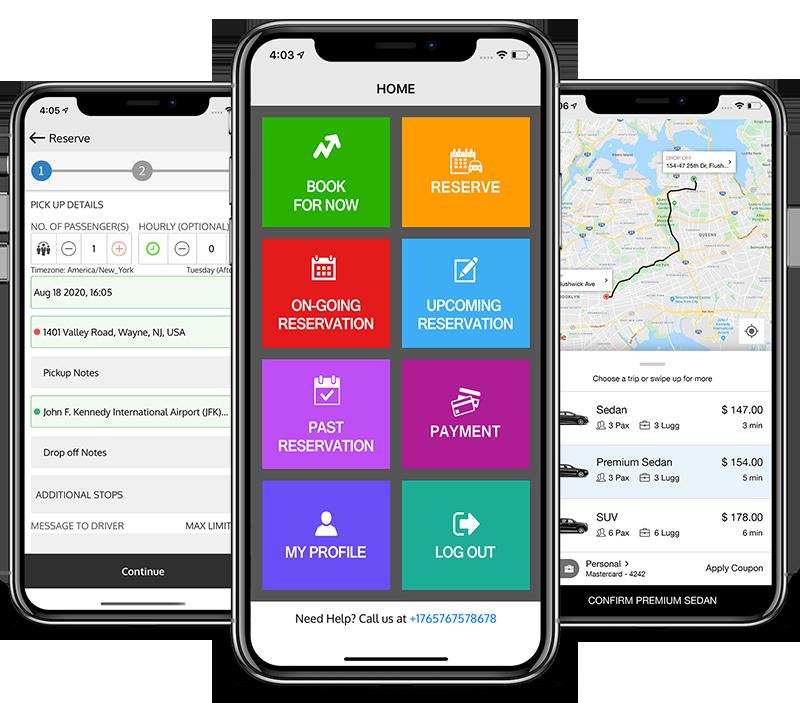 LimoAlliance White Label Passenger App